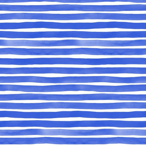 Watercolor Stripes M+M Cobalt by Friztin