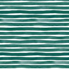 Watercolor Stripes M+M Evergreen by Friztin