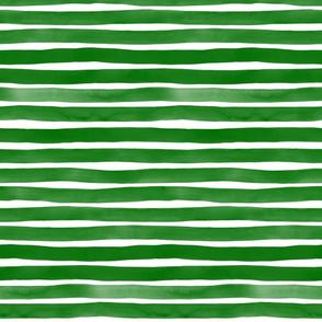 Watercolor Stripes M+M Zucchini by Friztin