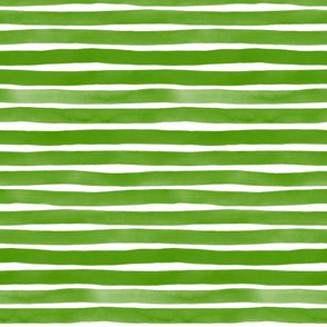 Watercolor Stripes M+M Moss by Friztin