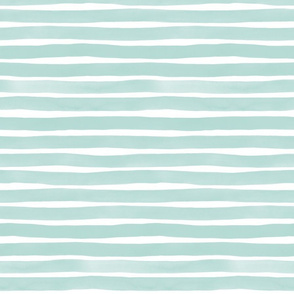 Watercolor Stripes M+M Wintermint by Friztin