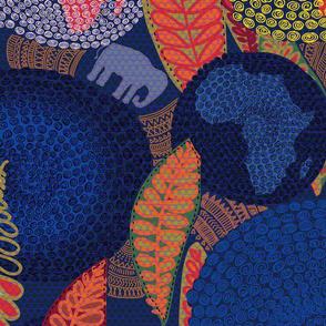 African Life in Indigo