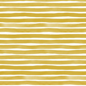 Watercolor Stripes M+M Ocher by Friztin