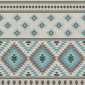 KILIM in beige blue brown
