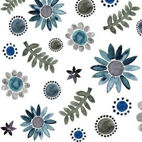 Light blue Floral garden