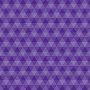 royal purple triangle gingham