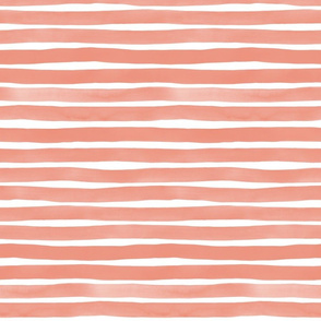 Watercolor Stripes M+M Blush by Friztin