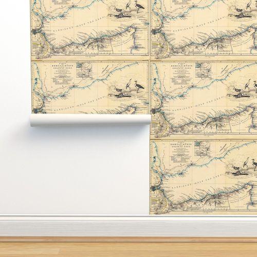 Wallpaper 1860 Gulf of Aden Map (27\
