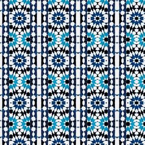 oriental mosaic batik blue-xxl-ch
