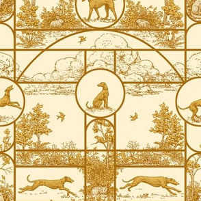 Autumn Gold Medium, Toile Greyhounds