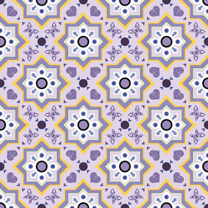 spanish tiles violet and yellow