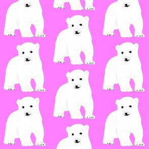Polar Bear Cub in Pink
