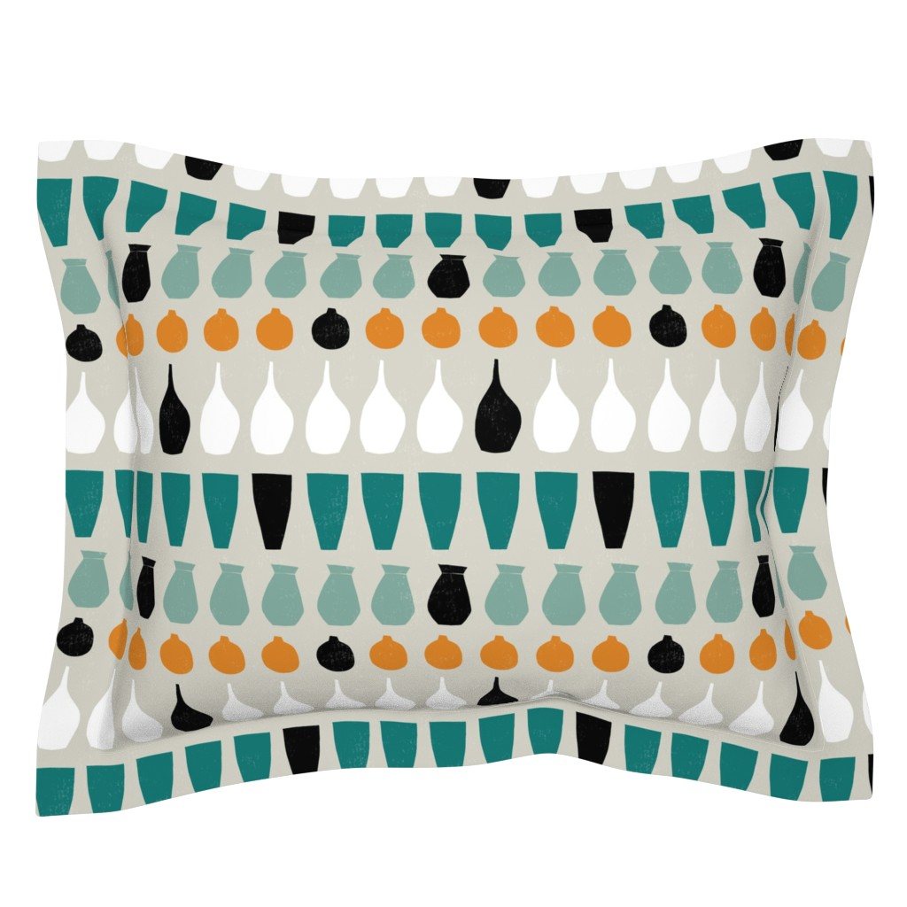 Sebright Pillow Sham featuring South Western Paint Strokes by statement_goods