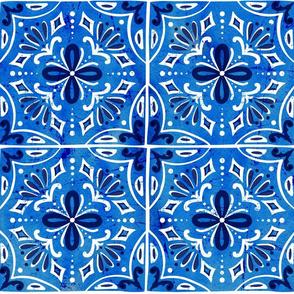Sevilla - Spanish Tiles Blue Large Scale