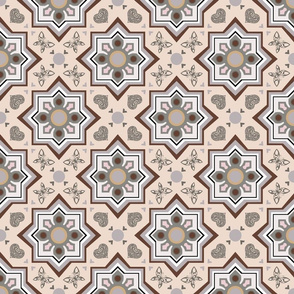 spanish tiles beige and brown