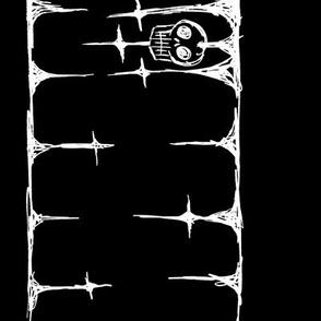Scribble Goth - Skull Border, black