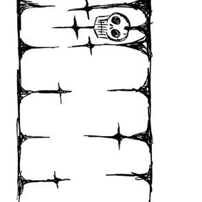 Scribble Goth - Skull Border, white