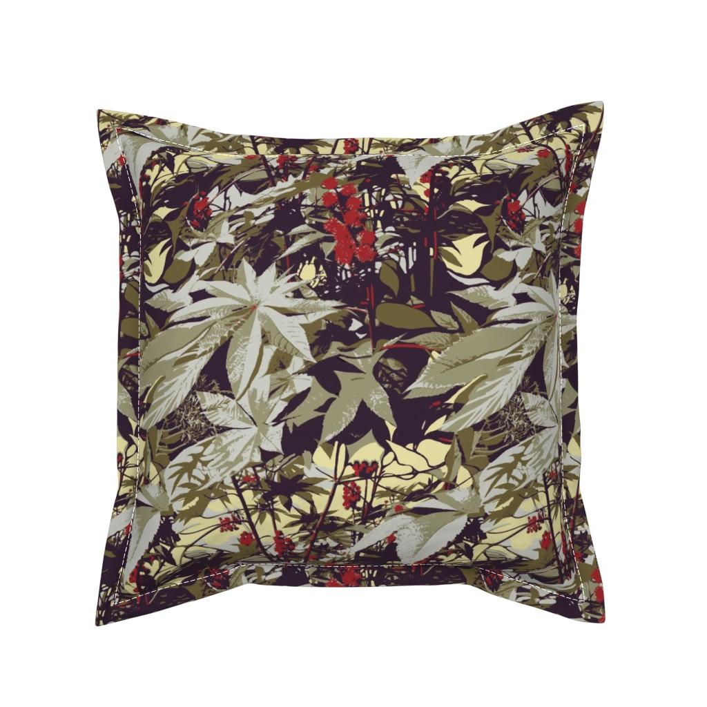 Serama Throw Pillow featuring castor-bean by wren_leyland