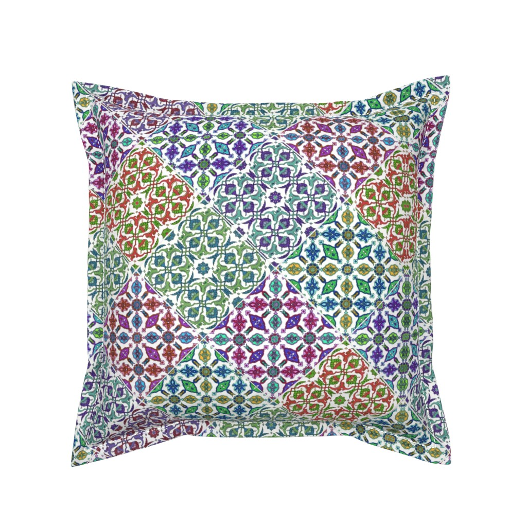 Serama Throw Pillow featuring estilo español by hypersphere