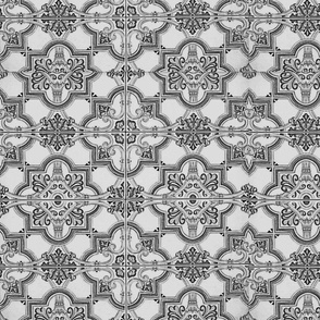 Spanish tile -- shape without color