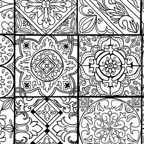 Spanish Tile Coloring Book