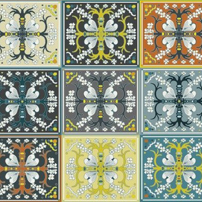 Dogwood Spanish Tiles - Mosaic - Medium Scale