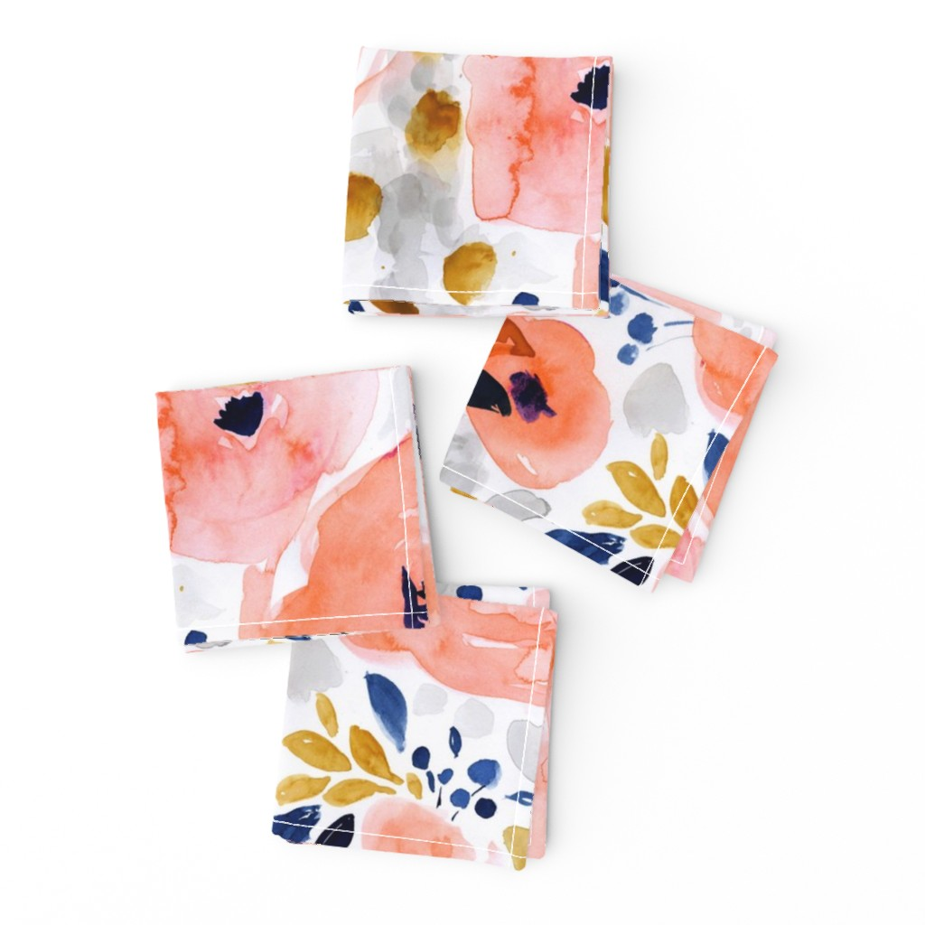 Frizzle Cocktail Napkins featuring genevieve floral by crystal_walen