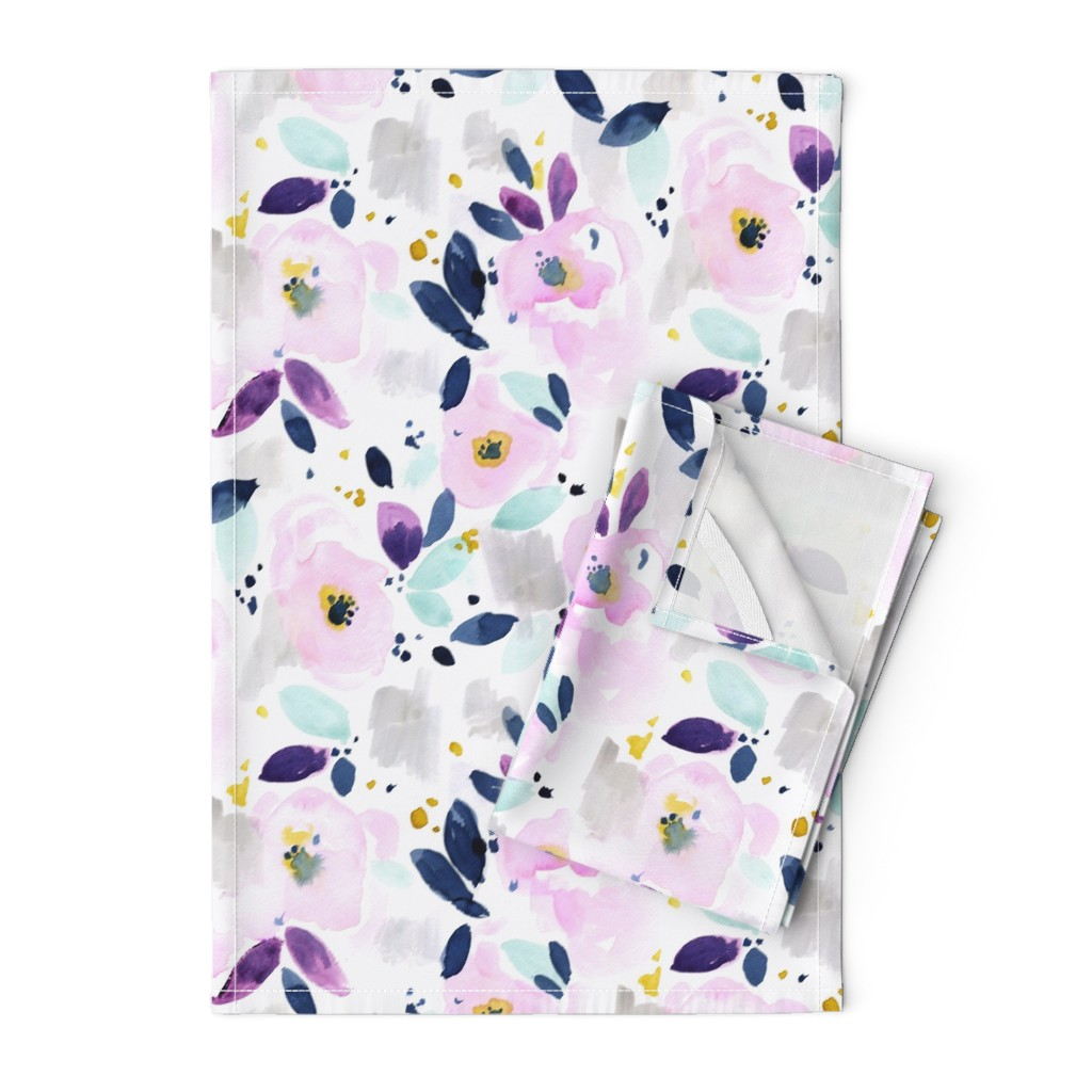 Orpington Tea Towels featuring mystical floral by crystal_walen