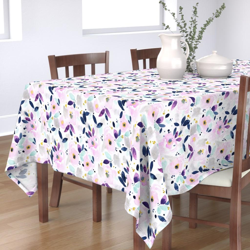 Bantam Rectangular Tablecloth featuring mystical floral by crystal_walen