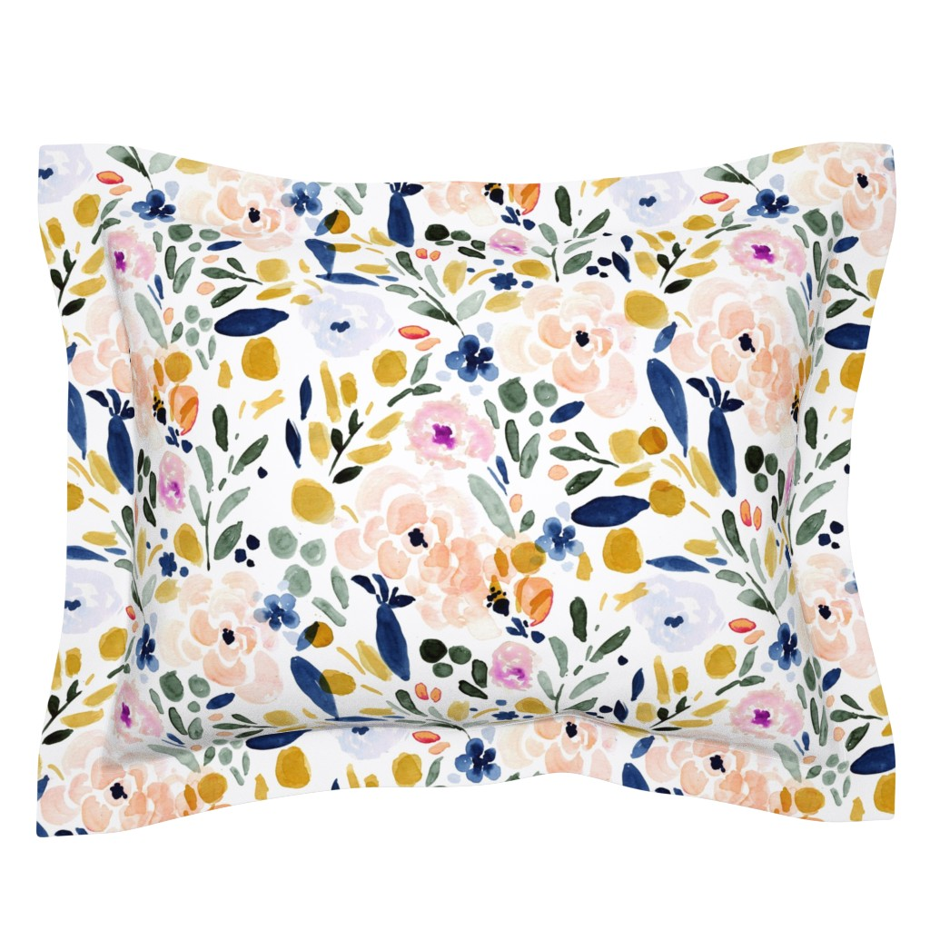 Sebright Pillow Sham featuring Sierra Floral by crystal_walen