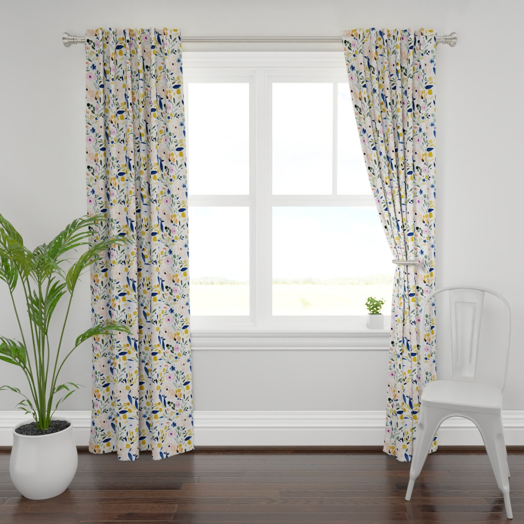 Plymouth Curtain Panel featuring Sierra Floral by crystal_walen
