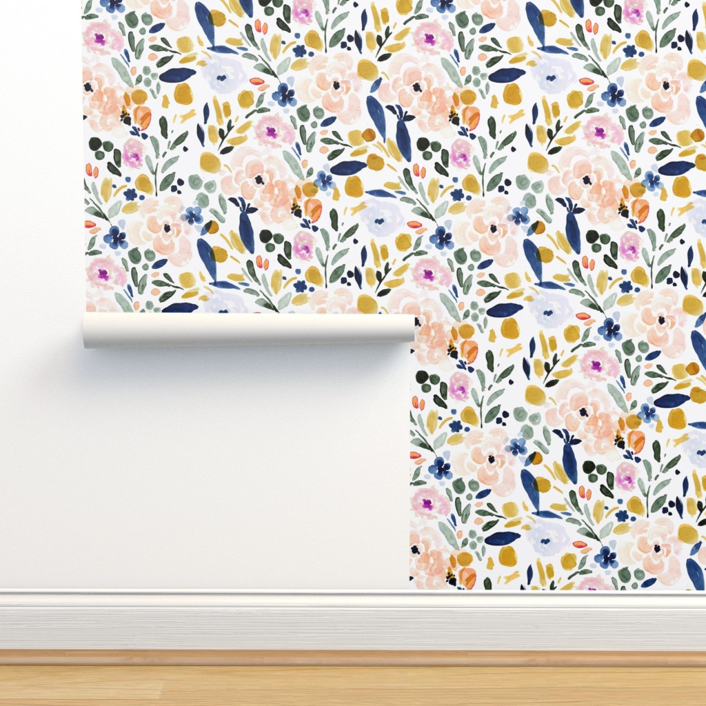 Isobar Durable Wallpaper featuring Sierra Floral by crystal_walen