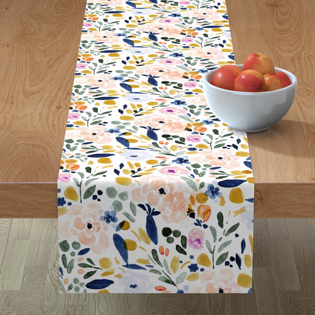 Minorca Table Runner featuring Sierra-Floral by crystal_walen