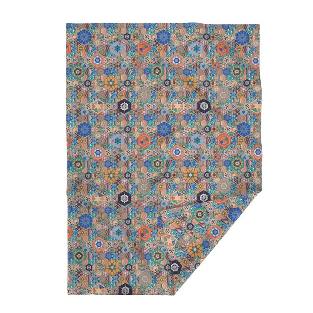 Lakenvelder Throw Blanket featuring Hexagons Tiles (Colorful) by vannina