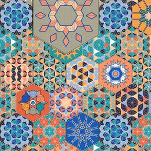 Hexagons Tiles (Colorful)