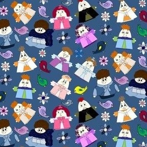 Hawk Family Group Fabric