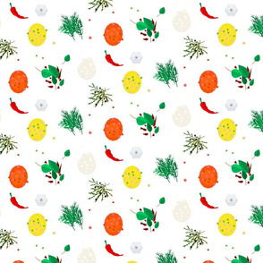 Pepper hot spices pattern