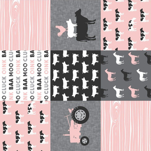 farm life - farm patchwork fabric - p and grey linen (90)
