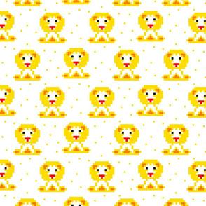 Yellow baby lion