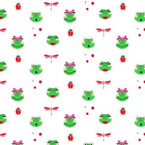 Cute green frogs