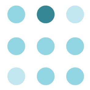 Spirited Dot Aqua
