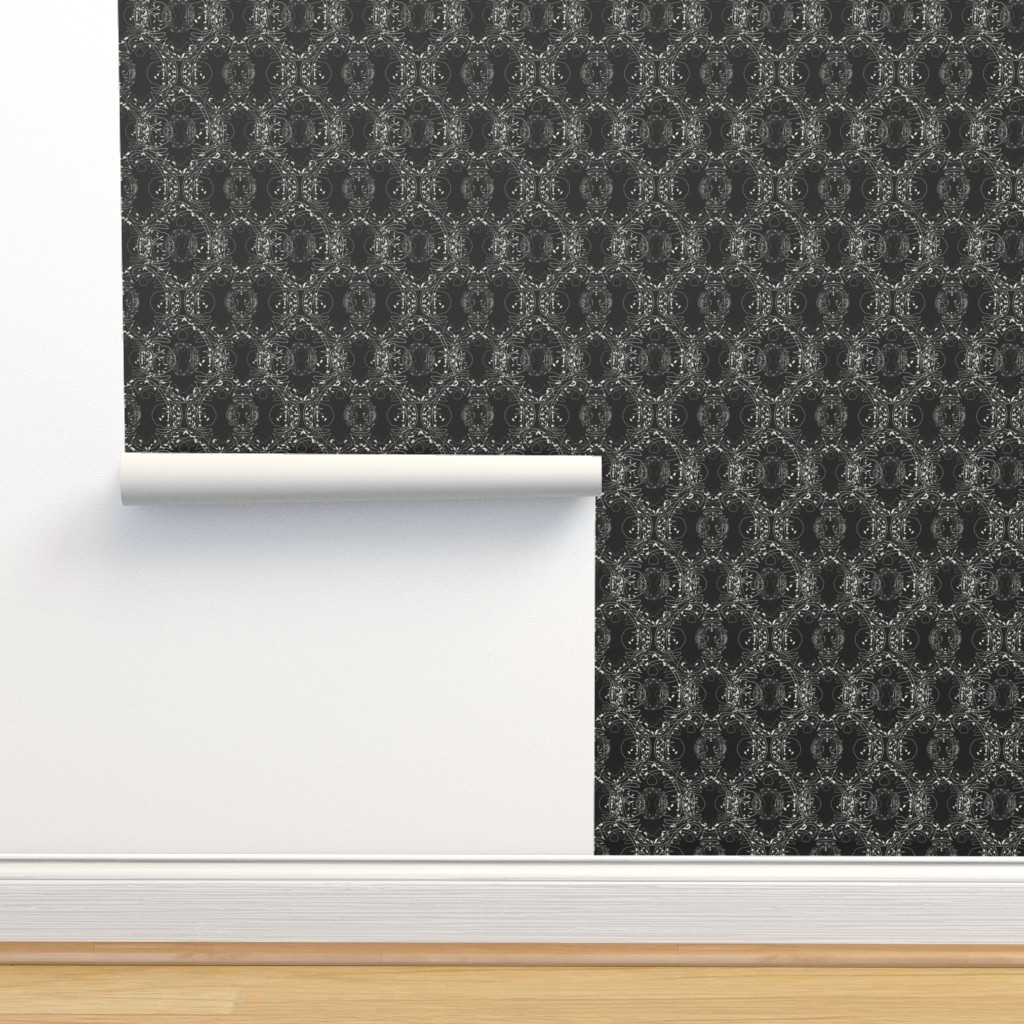 Isobar Durable Wallpaper featuring Celtic tree symphony Black/Pristine by ejmart