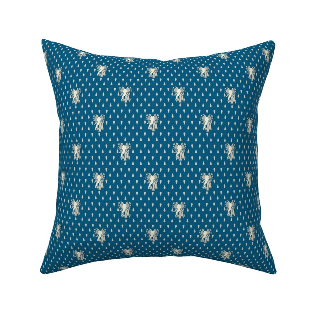 Catalan Throw Pillow featuring Art EleDroplets, blue by ejmart