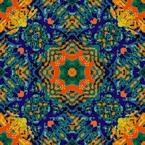 spanish tiles: marigolds