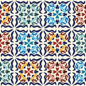 Spanish Tiles: Los cuadrados son círculos-Multi [Med+  scale]