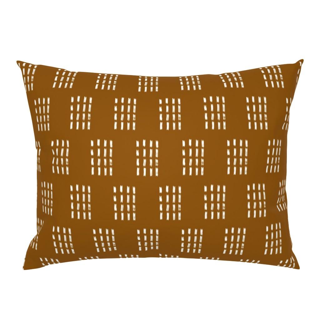 Campine Pillow Sham featuring Copper Mudcloth: Stamped by wilderandbean