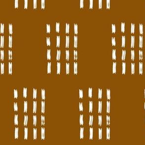 Copper Mudcloth: Stamped