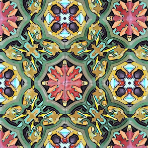Ornamental spanish tiles