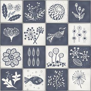Blue White Tile