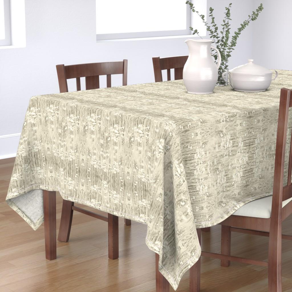 Bantam Rectangular Tablecloth featuring Romance Daisies, pristine by ejmart